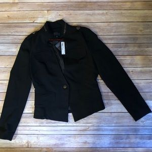Black Military Inspired Blazer by WORTHINGTON